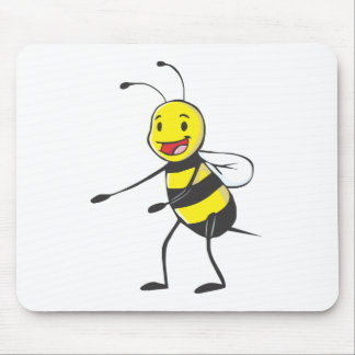 Happy Bee Welcoming You Mouse Pad