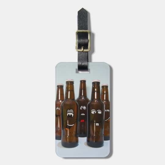 Happy Beer Bottles Luggage Tag