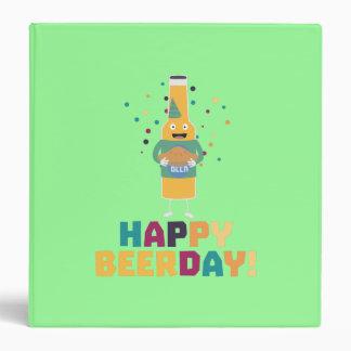 Happy Beerday Beerbottle Zhnp3 Binder