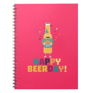 Happy Beerday Beerbottle Zhnp3 Notebooks