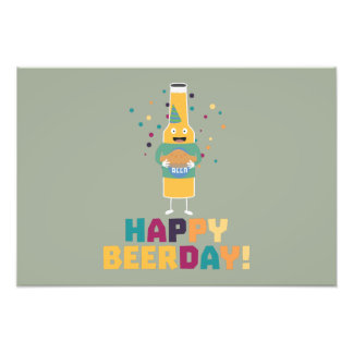 Happy Beerday Beerbottle Zhnp3 Photo Print