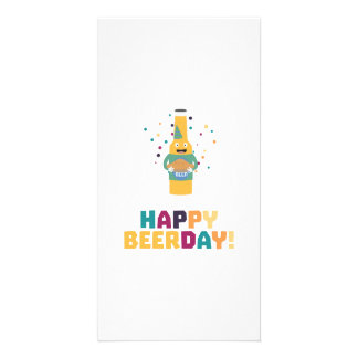 Happy Beerday Beerbottle Zhnp3 Picture Card