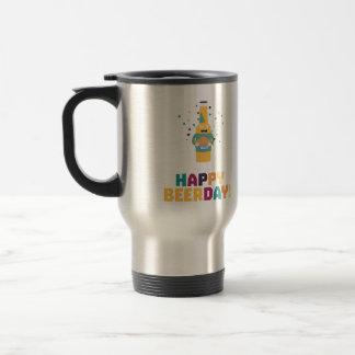 Happy Beerday Beerbottle Zhnp3 Travel Mug