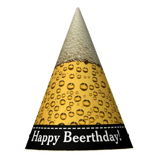 Happy Beerthday Adults Beer Birthday Party Hat