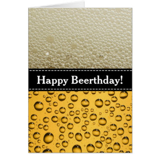 Happy Beerthday! Adult's Birthday Party Greeting Card
