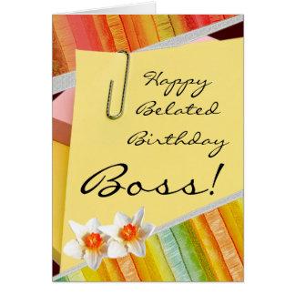 Happy belated birthday boss cards