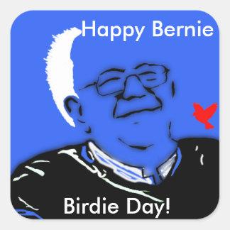 Happy Bernie Birdie Day Square Sticker