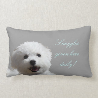 Happy Bichon Snuggle Lumbar Pillow
