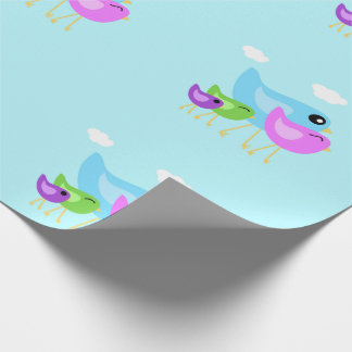 Happy Bird family wrapping paper