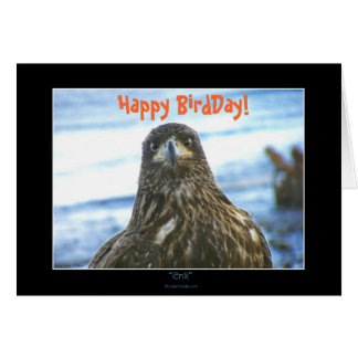 Happy BirdDay! Bald Eagle Greeting-Card Card
