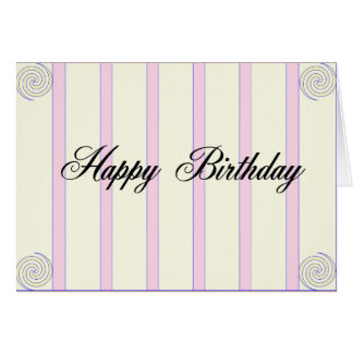 Happy birth day greeting card