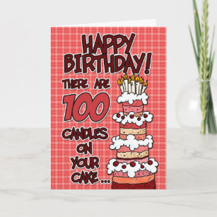 100 Years Birthday Cards