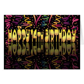 Happy Birthday 14 streamers Card