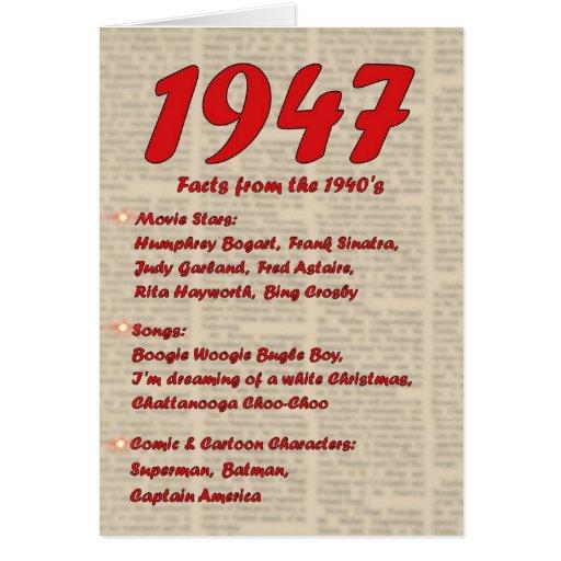 Happy Birthday 1947 Year Of Birth News 40's 40s Greeting