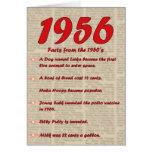 Happy Birthday 1956 Year of birth news 50's 50s Greeting Card