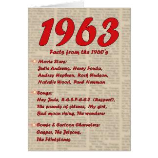 Happy Birthday 1963 Year of birth news 60's 60s Card