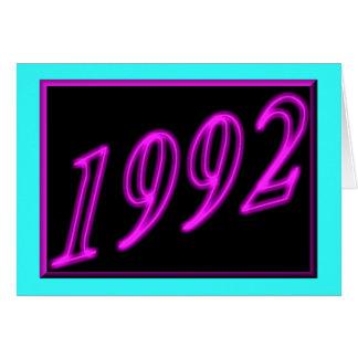 Happy Birthday 1992 Year of birth Neon 90's 90s Card