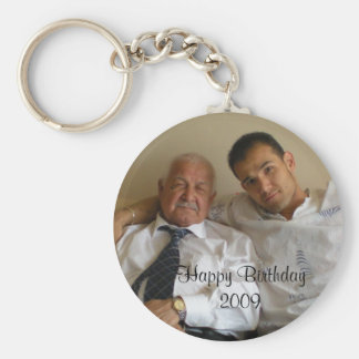 Happy Birthday 2009 Basic Round Button Keychain