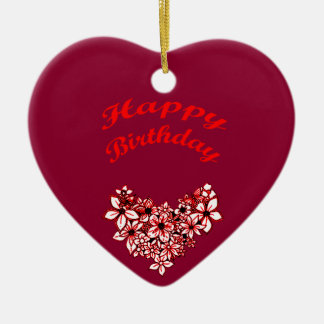 Happy Birthday 2 Ceramic Ornament