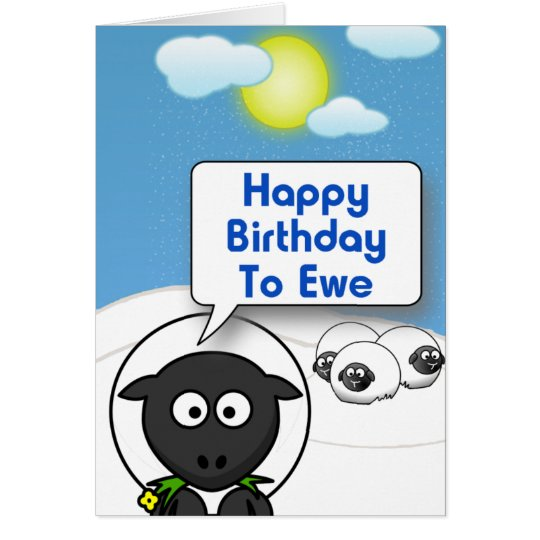 Happy Birthday 2 Ewe Card
