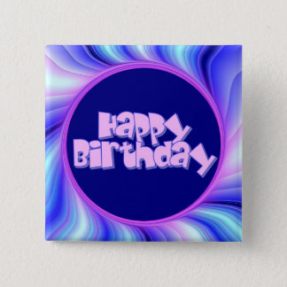 Happy Birthday 2 Inch Square Button