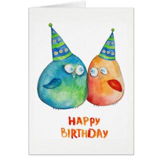 Happy Birthday 2 Little Birds  Blank Inside Card