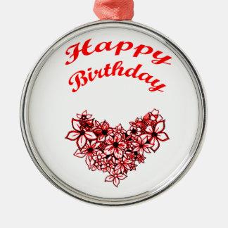 Happy Birthday 2 Metal Ornament