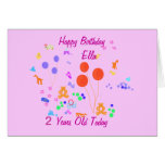 Happy Birthday 2 years old Greeting Cards