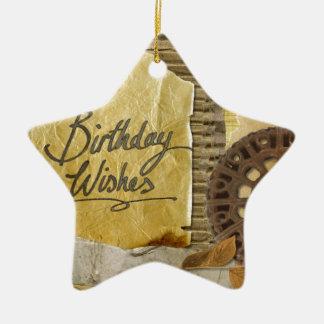 Happy-Birthday #3 Ceramic Ornament