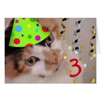 Happy Birthday 3 Year Old Card