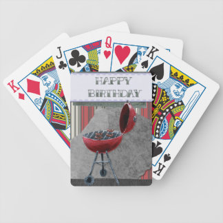 Happy-Birthday #4 Bicycle Playing Cards