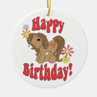 Happy Birthday 4 Ceramic Ornament