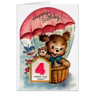 Happy Birthday - 4 year old Card