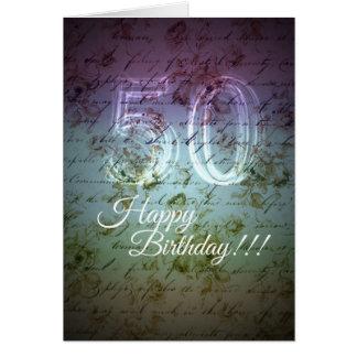Happy Birthday! 50th Card
