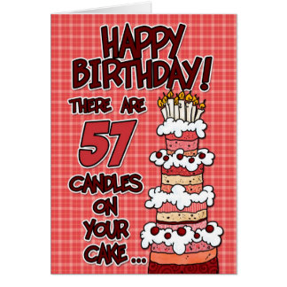 Happy Birthday - 57 Years Old Card
