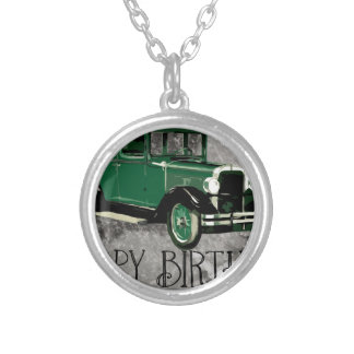 Happy-Birthday #5 Silver Plated Necklace