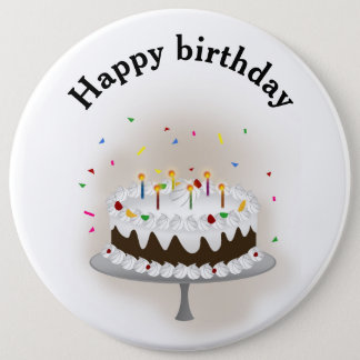 Happy birthday 6 inch round button