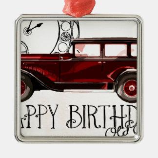 Happy-Birthday #6 Metal Ornament