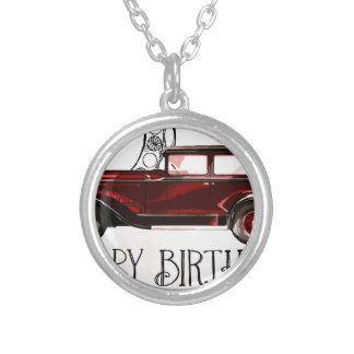 Happy-Birthday #6 Silver Plated Necklace