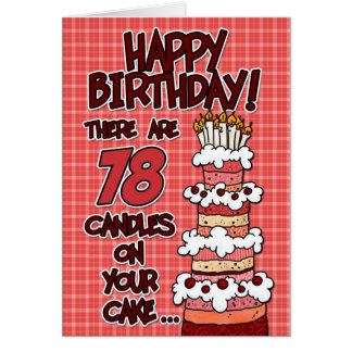 Happy Birthday - 78 Years Old Card