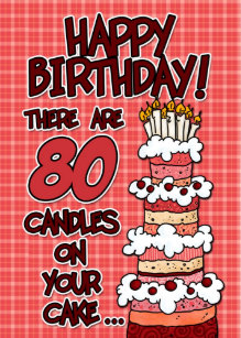 80 Year Old Birthday Cake Gifts On Zazzle CA