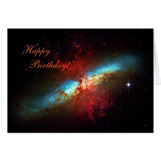 Happy Birthday - A Starburst Galaxy Card