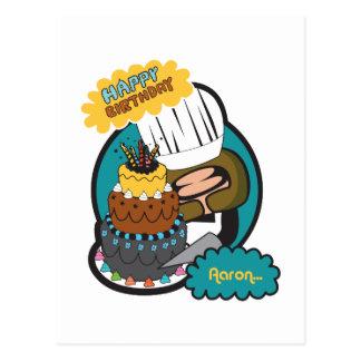 happy birthday Aaron Postcard