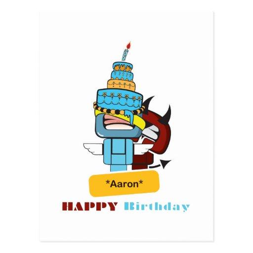 happy birthday Aaron Post Card