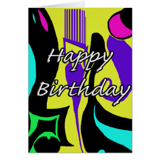 Happy Birthday Abstract Design Card