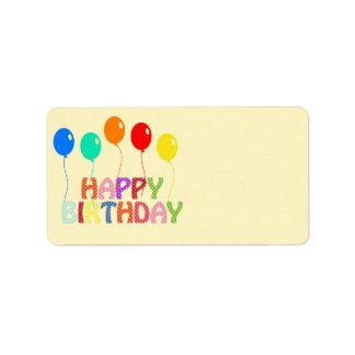 Happy Birthday Address Label