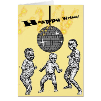 Happy Birthday African Baby Dance Funny Meme Card