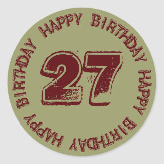 Happy Birthday Age Template Sticker for Him