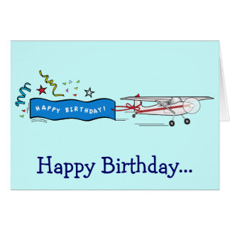 Happy Birthday Airplane from the Whole Gang Card