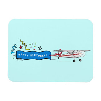 Happy Birthday Airplane Magnet